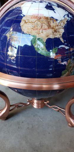 Large gemstone globe with compass Thumbnail
