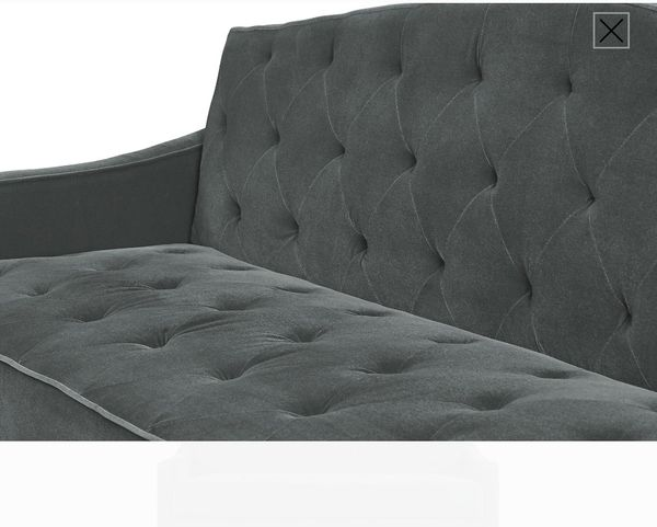 Novogratz Vintage Tufted Sofa Sleeper Ii Grey For Sale In Las Vegas