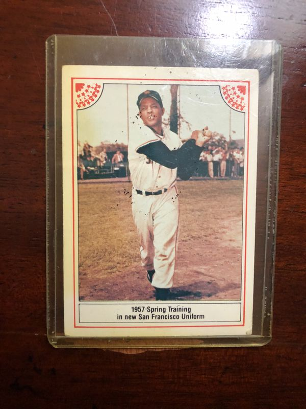 William Mays Baseball Card 1957 Spring Training A New San Francisco Uniform Priceless For Sale In Lake Worth Fl Offerup