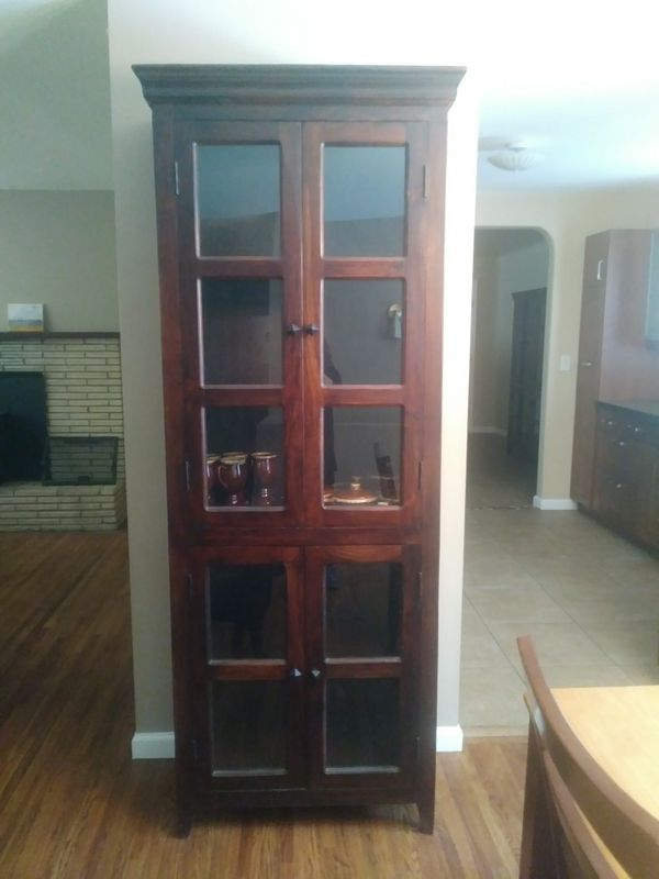 Like New Mango Wood China Cabinet For In Colorado Springs Co Offerup