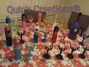 Glittered bottles for Sale in Orlando, FL