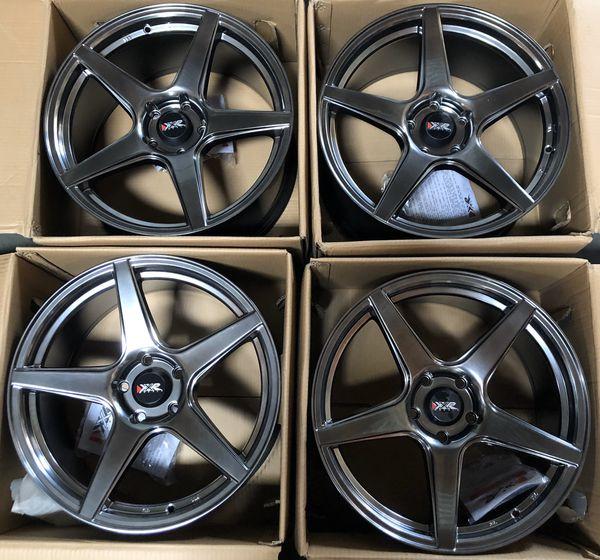 "18"" Chromium Black XXR 535 Wheels (5x114) Mustang, Honda"