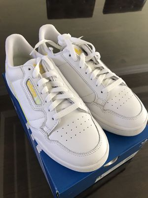 Photo New Adidas Women White/Yellow Continental 80 size 7.5