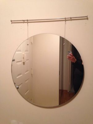 Circle trapeze wall mirror for Sale in McLean, VA