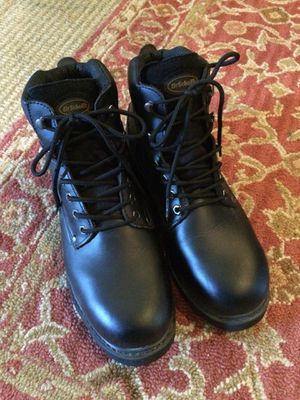 DR SCHOLLS LEATHER STEEL TOE BOOTS!! NEW / SIZE 11 for Sale in Catonsville, MD