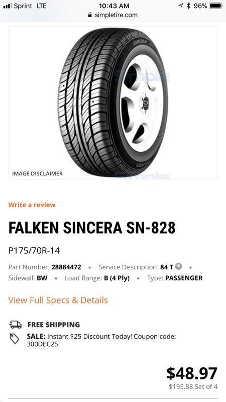 Falken Sincera All Season Tire 215 60r16 For Sale In San Jose Ca