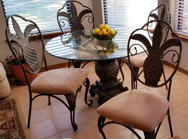 Bronze Pineapple Dining Table 4 Chairs For Sale In Niceville FL OfferUp