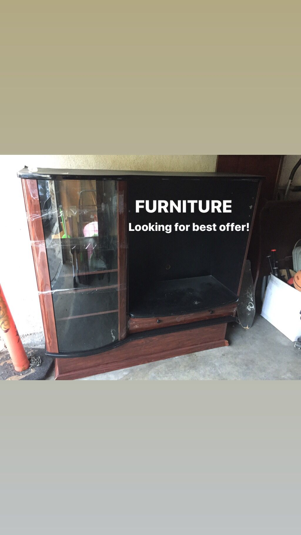 Heavy furniture looking for best offer!