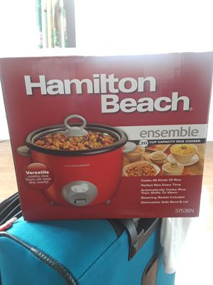 Hamilton Beach 20Cup Capacity Rice Cooker // Call or text at {contact info removed} for Sale in Rockville, MD