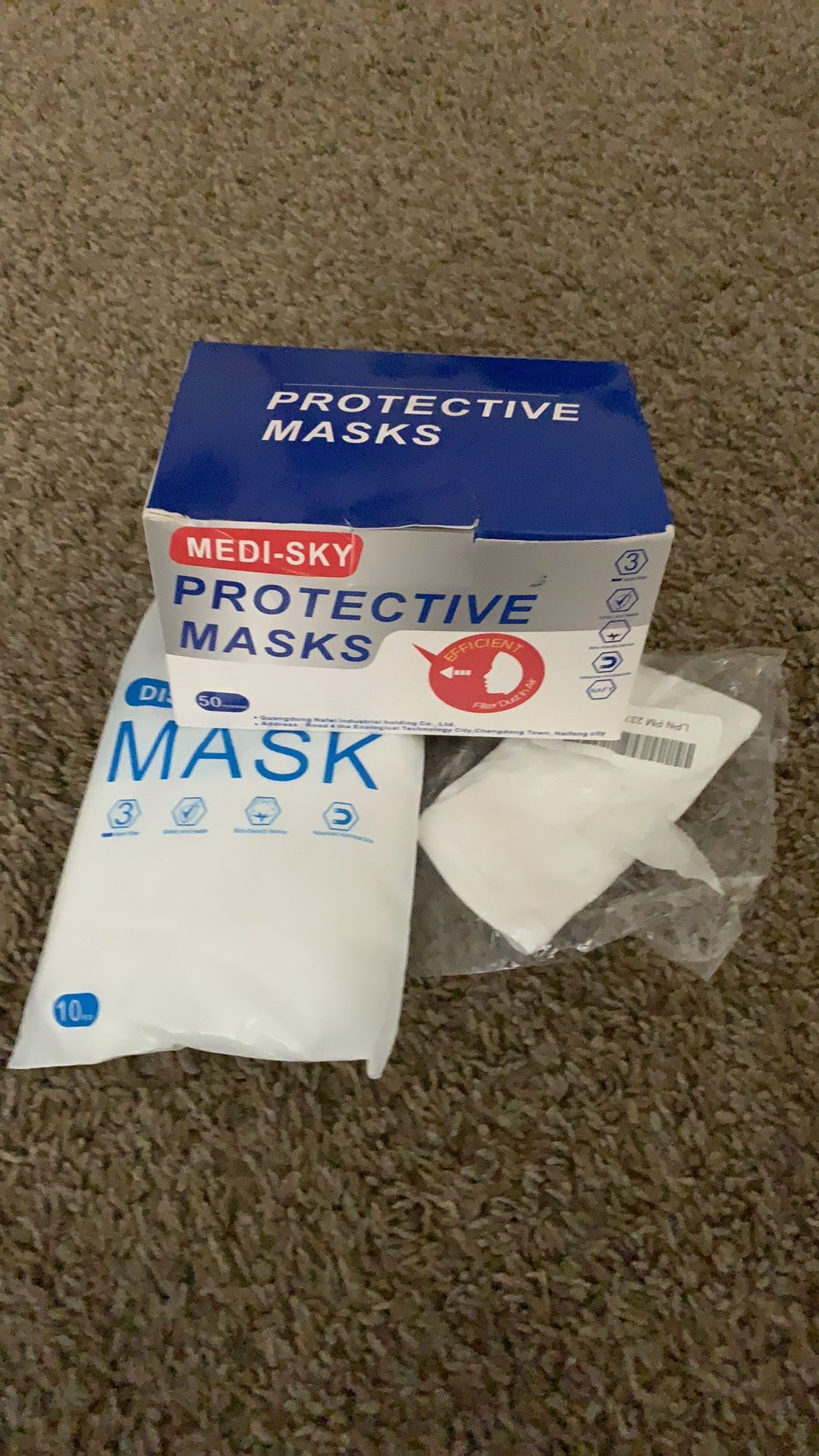 Box Of Medical Face And Dust Masks 60+ New