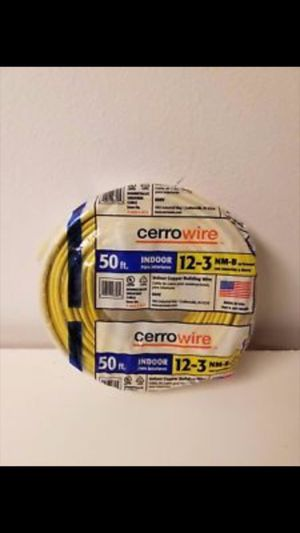 New indoor copper building wire 12-3 nm-b 50 ft for Sale in Chicago, IL