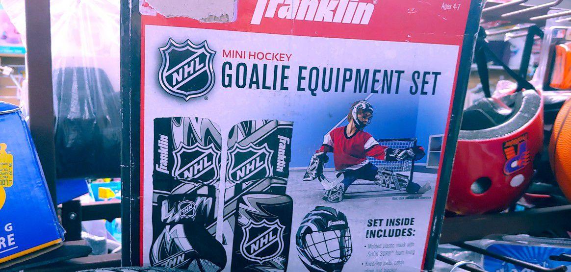 New goalie set $19.99