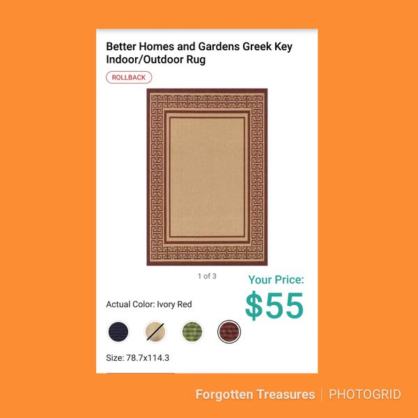 New Better Homes 6 5 X 9 5 Greek Key Indoor Outdoor Rug For Sale