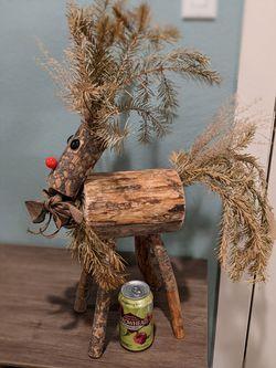 Christmas Elk Decor made of Wood Thumbnail