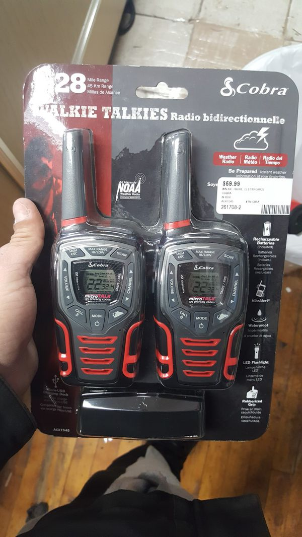 Cobra Acxt545 28 Mile Two Way Radio Walkie Talkie Cobra Frs For