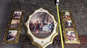 3 very vintage antique wall plaques Italy wood for Sale in Hialeah, FL