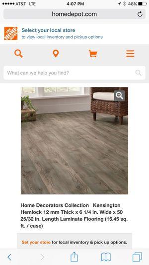 Home Decorators Kensington Hemlock Laminate Flooring New For Sale