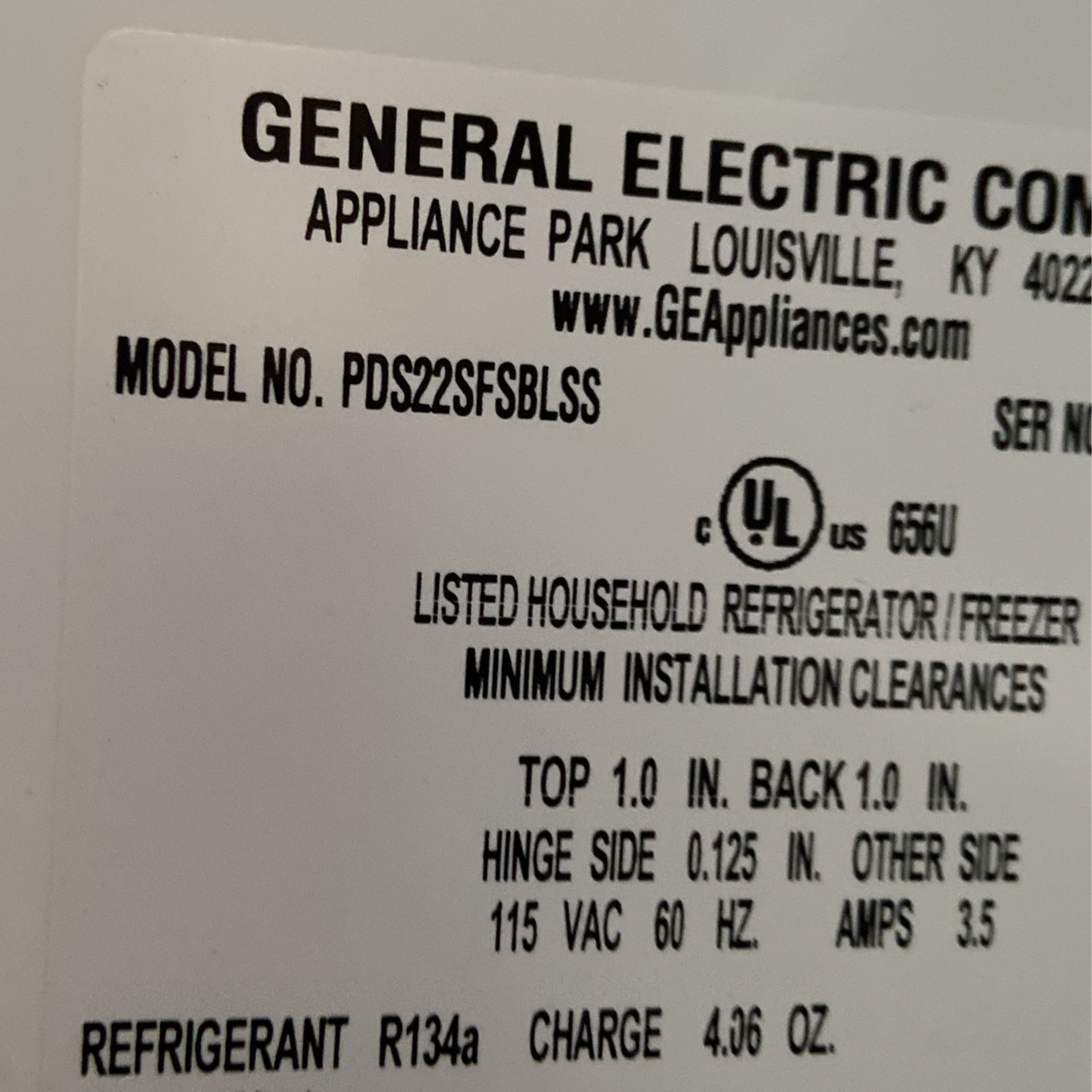 General Electric Stainless Steel Refrigerator