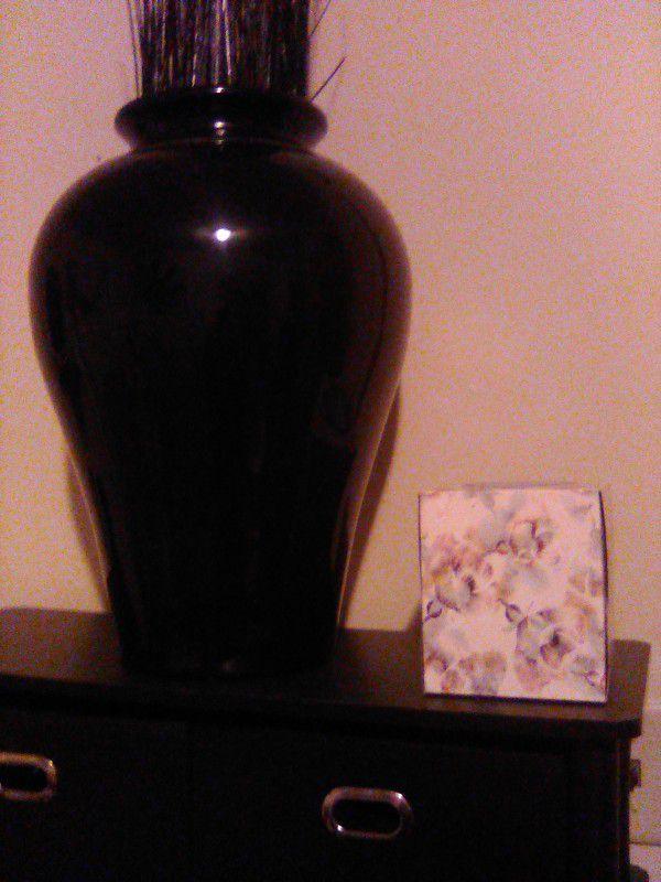 17 Inch Black Vase