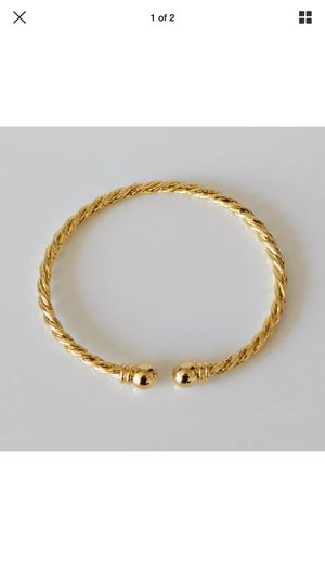 Gold plated Indian style bangle open cuff bracelet jewelry accessory Christmas gift for Sale in Silver Spring, MD