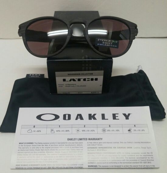 12ec647acee Oakley Latch PRIZM 009265-12 Woodgrain Sunglasses for Sale in ...