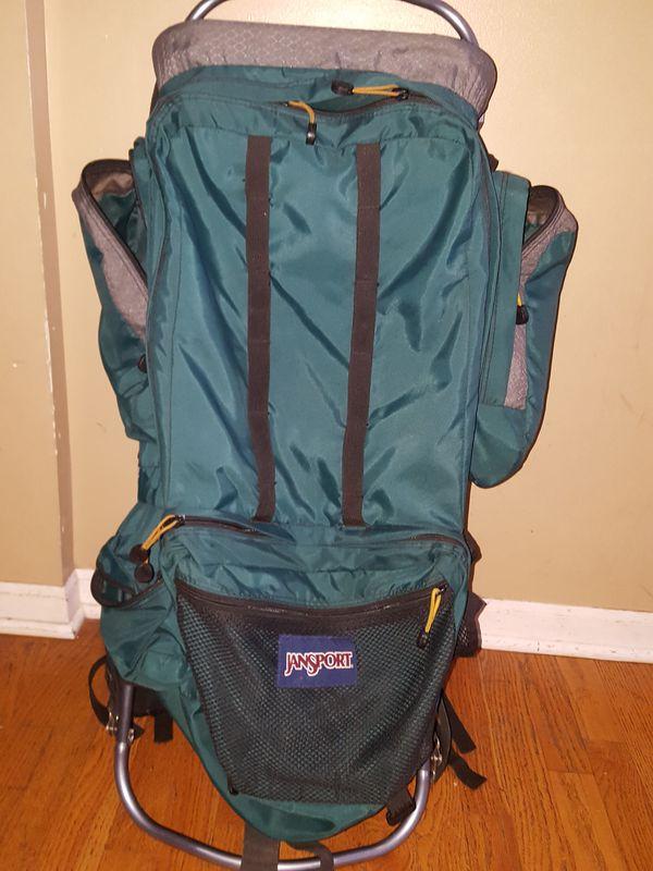 Jansport external frame hiking backpack (Sports & Outdoors) in ...