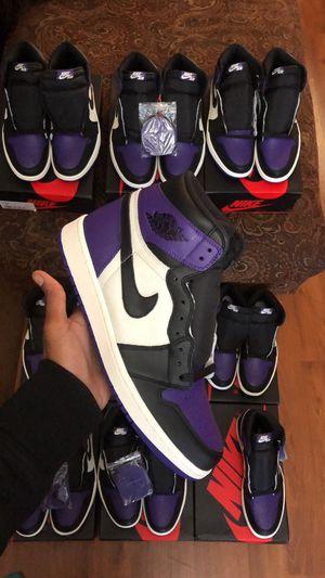 Air Jordan Retro 1 OG High Court Purple Men Size 8 for Sale in Richmond, CA