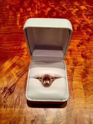 14K Rose Gold Morganite & Diamond Ring for Sale in Washington, DC