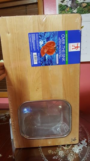 NEW Over the Sink Cutting Board with Basket for Sale in Portland, OR