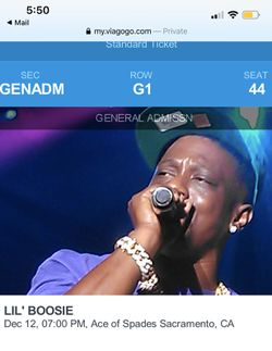 Lil Boosie tickets For sale Thumbnail
