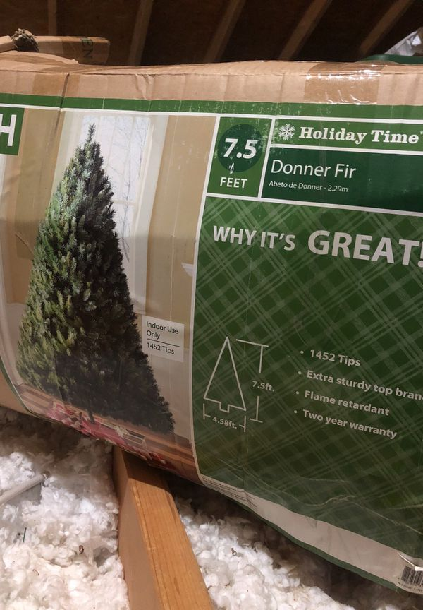 Holiday Time Christmas Tree.Holiday Time 7 5ft Donner Fir Christmas Tree For Sale In Piedmont Sc Offerup