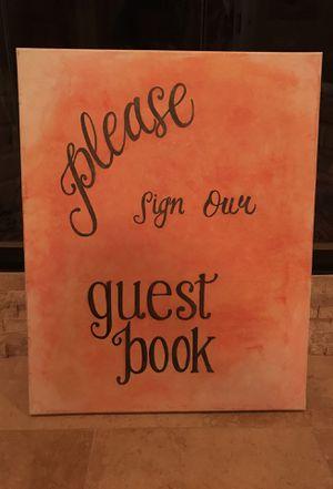 Custom Hand Painted Wedding Sign for Sale in Atlanta, GA
