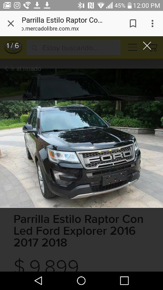 2016 2017 Ford Explorer Grill