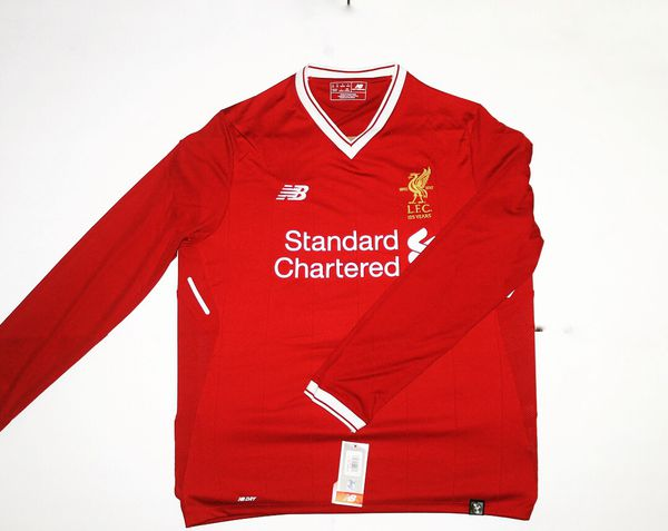 best sneakers 39617 4a7d9 2017-2018 LIVERPOOL LONG SLEEVE HOME JERSEY medium for Sale in Fort  Lauderdale, FL - OfferUp