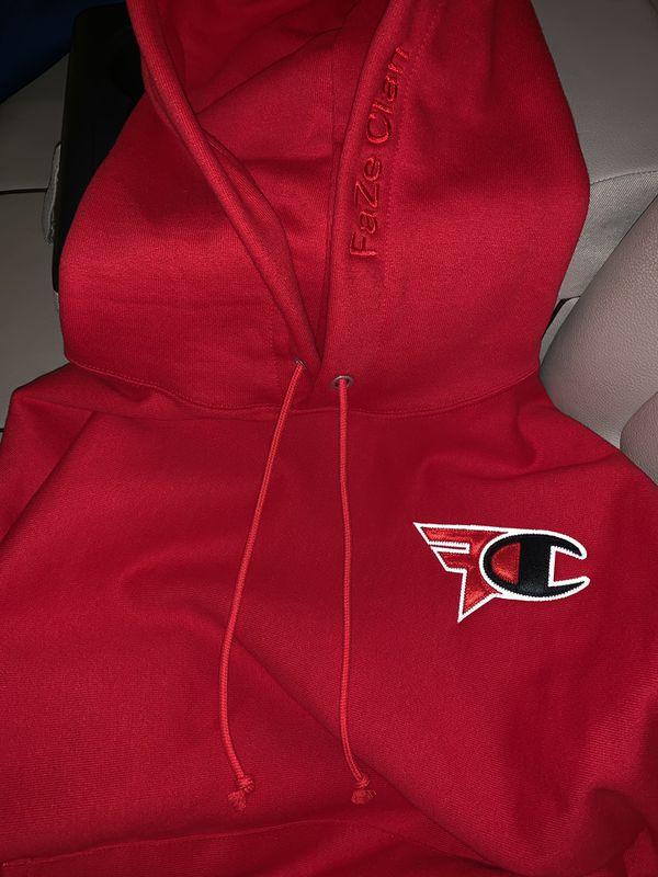 oficjalna strona najlepsza cena wspaniały wygląd FaZe Clan x Champion Hoodie Red for Sale in Downey, CA - OfferUp