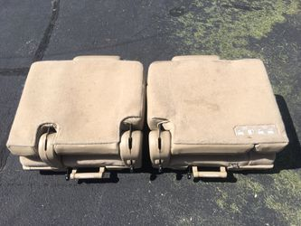 Two factor tan leather third row seats for 2010-2014 Chevy Tahoe Thumbnail