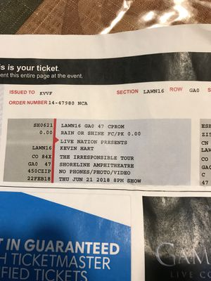 f3d7df21cc9 Two tickets to Kevin Hart shows today at 8 pm 120 for Sale in Modesto