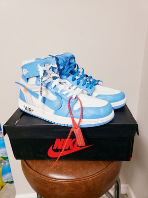 Photo The Air Jordan 1 off white men size 10