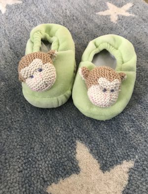 Maison Chic Mike the Monkey Slippers (6-12mos) for Sale in Chantilly, VA