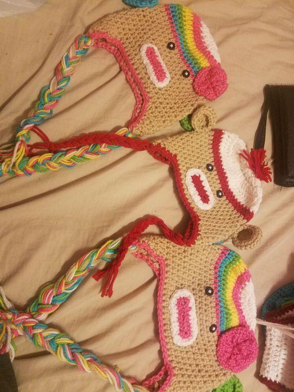 Crochet Sock Monkey Hat For Sale In Dallas Tx Offerup