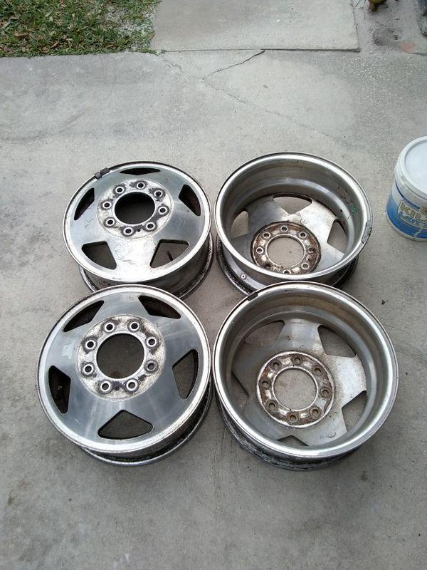 4 16 inch Ford Chevy GMC Dodge 3500 Dually wheels ALCOA ...