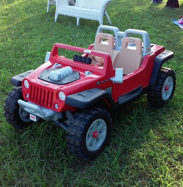 jeep, children's ride-on jeep hurricanepower wheels, red, 12v