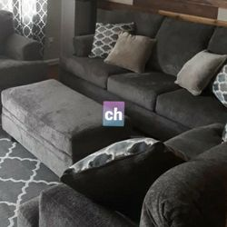 🐶same Day And Free Delivery 🍒Dorsten Slate Living Room Set 🥫 Thumbnail