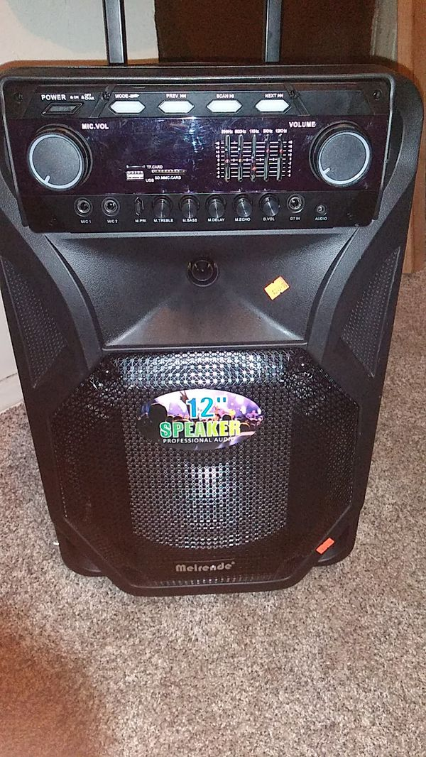 Meirende 12 speaker professional audio brand new comes with microphones and  remote for Sale in Columbus, OH - OfferUp