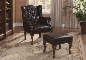 🐿Accent Seating Traditional Wing Back Button Tufted Chair and Ottoman for Sale in Atlanta, GA