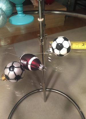 3 Christmas sport glass ornaments for Sale in Tacoma, WA