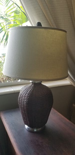 New and used lamp shades for sale in hialeah fl offerup pottery barn wicker lamp shade for sale in hollywood aloadofball Images