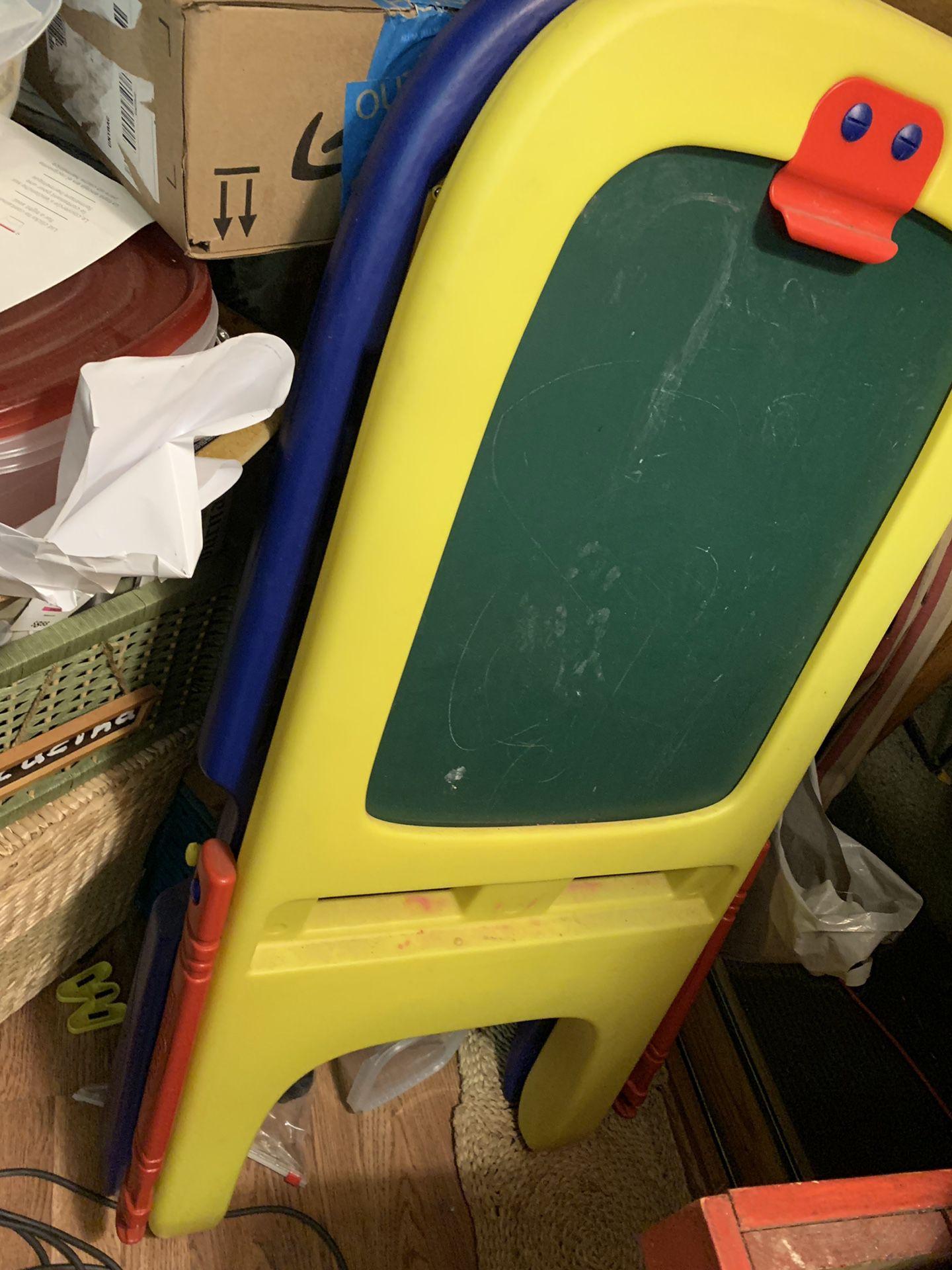 Magnetic Chalkboard Kids Easel