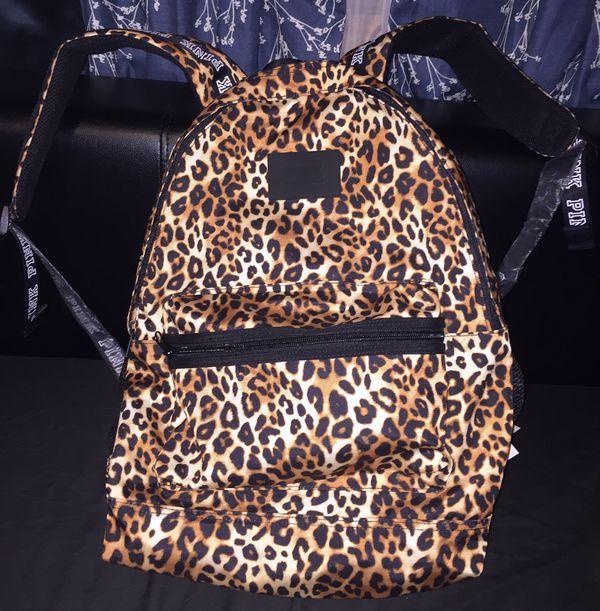 7b7f4096fe3 NWT Victoria s Secret Pink Leopard Full sized Backpack Bag for Sale ...