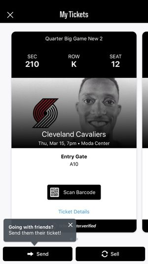 2 Tickets for Trail Blazers vs Cavs, go see Lebron for Sale in Portland, OR